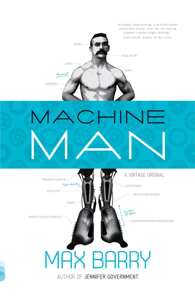Divulgada capa de Machine Man, de Max Barry