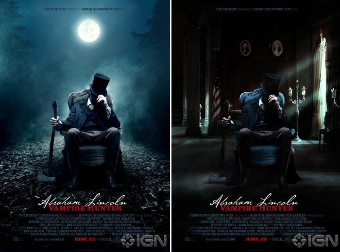 Divulgados os primeiros cartazes de 'Abraham Lincoln: caçador de vampiros'