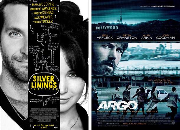 O lado bom da vida e Argo são indicados ao Oscar