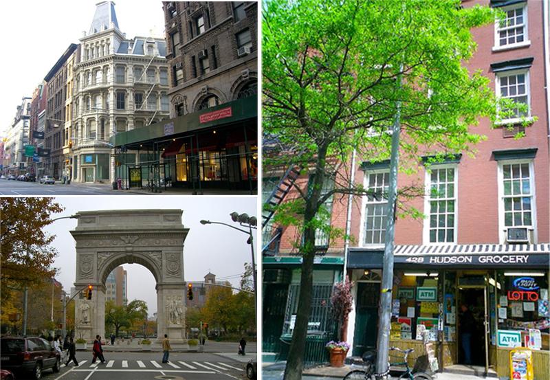 A Nova York que Barbara vê na saída da estação de Union Square, Quinta Avenida e Christopher Street.