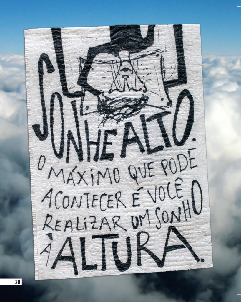 Poesia em forma de guardanapo marca presença na Bienal