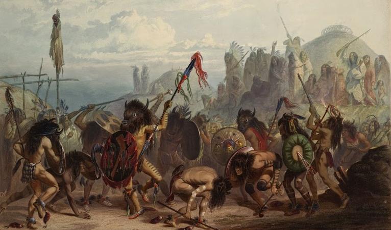 Pintura da tribo dos Arikara