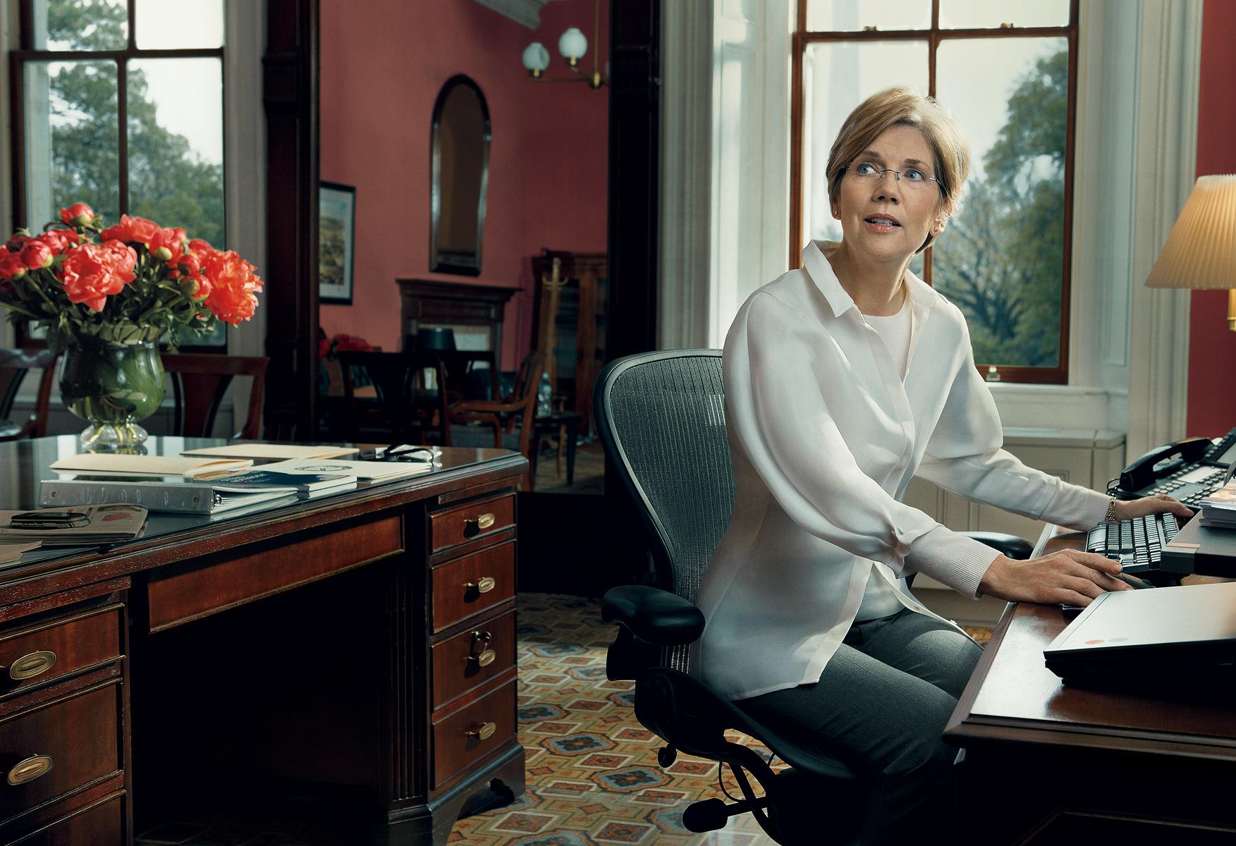A senadora americana Elizabeth Warren