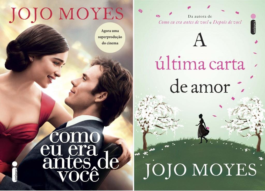 Livros de Jojo Moyes com capas novas