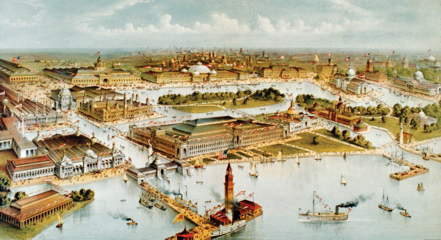Panorama da feira mundial de Chicago de 1893