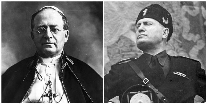 Pio XI e Mussolini: fé no poder