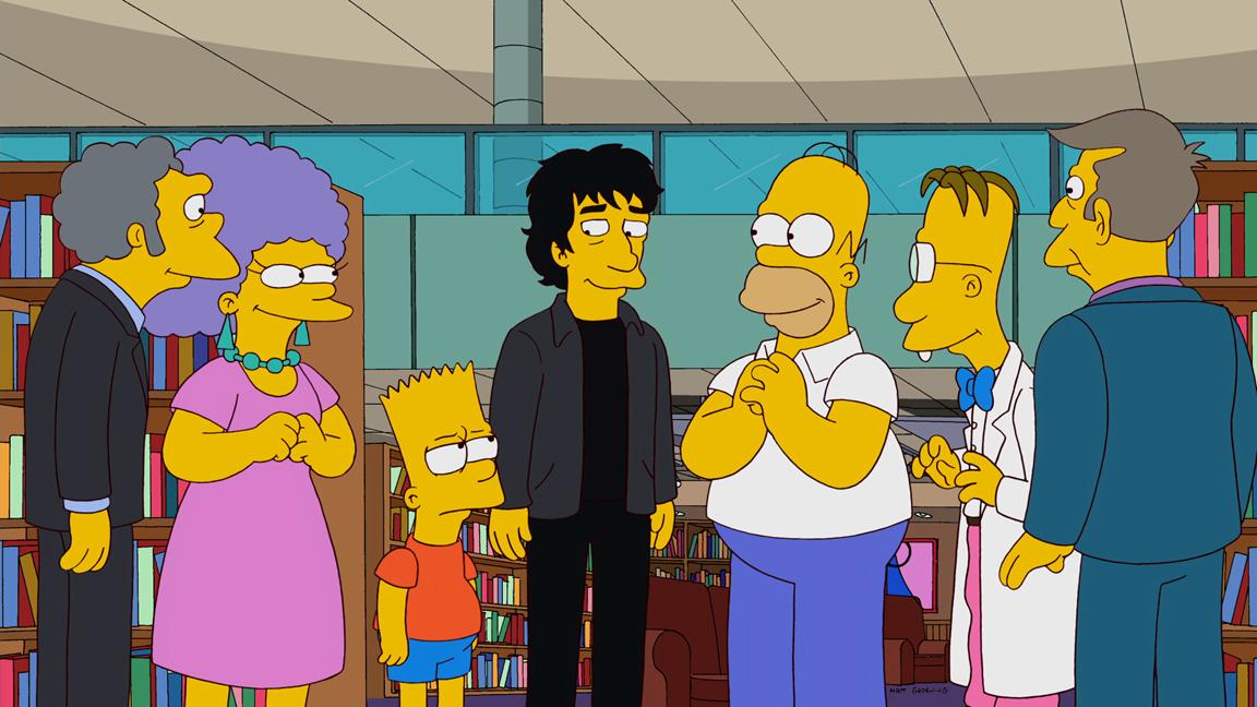 Cena de Os Simpsons com a participação do autor