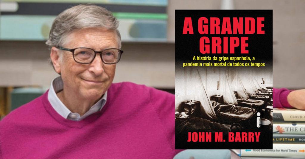 Bill Gates recomenda A grande gripe como leitura para a quarentena