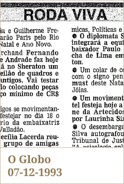 O Globo, 07-12-1993